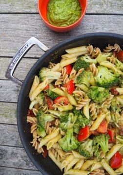 pasta pesto broccoli